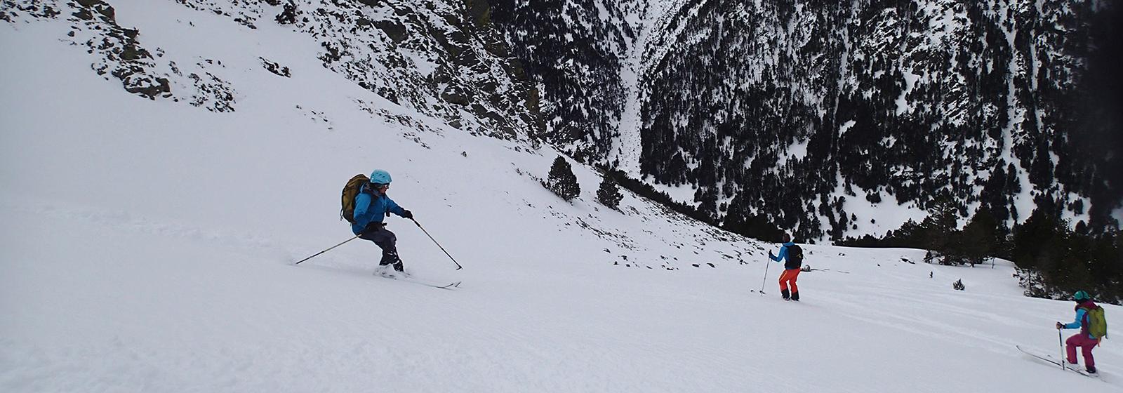 Descenso hacia la Vall de Ransol
